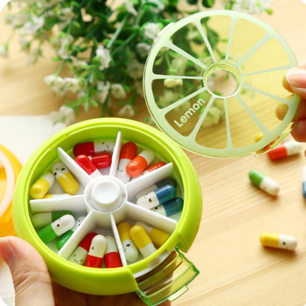 Новый 7 сетка медицина комплект 7 день коробка для хранения Портативный таблетки случае еженедельно вращающийся наркотиков лекарств таблет...