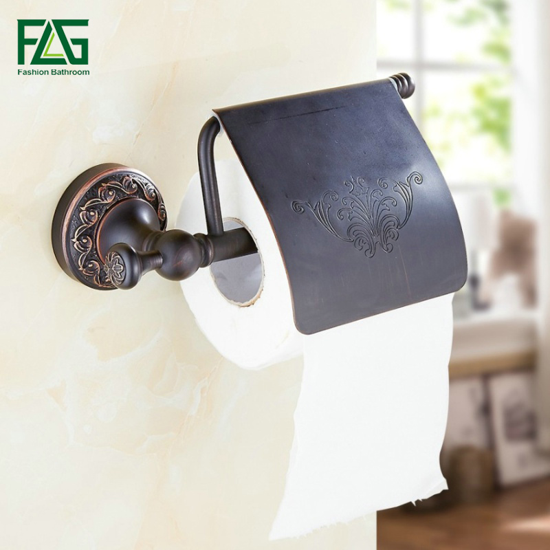 FLG Free Shipping Oil Rubbed Bronze Toilet Paper Holder Roll Holder Tissue Holder Solid Brass Bathroom Accessories Product 91305 jooe antique bronze finishing toilet paper holder brass porta papel higienico tissue holder bathroom accessories