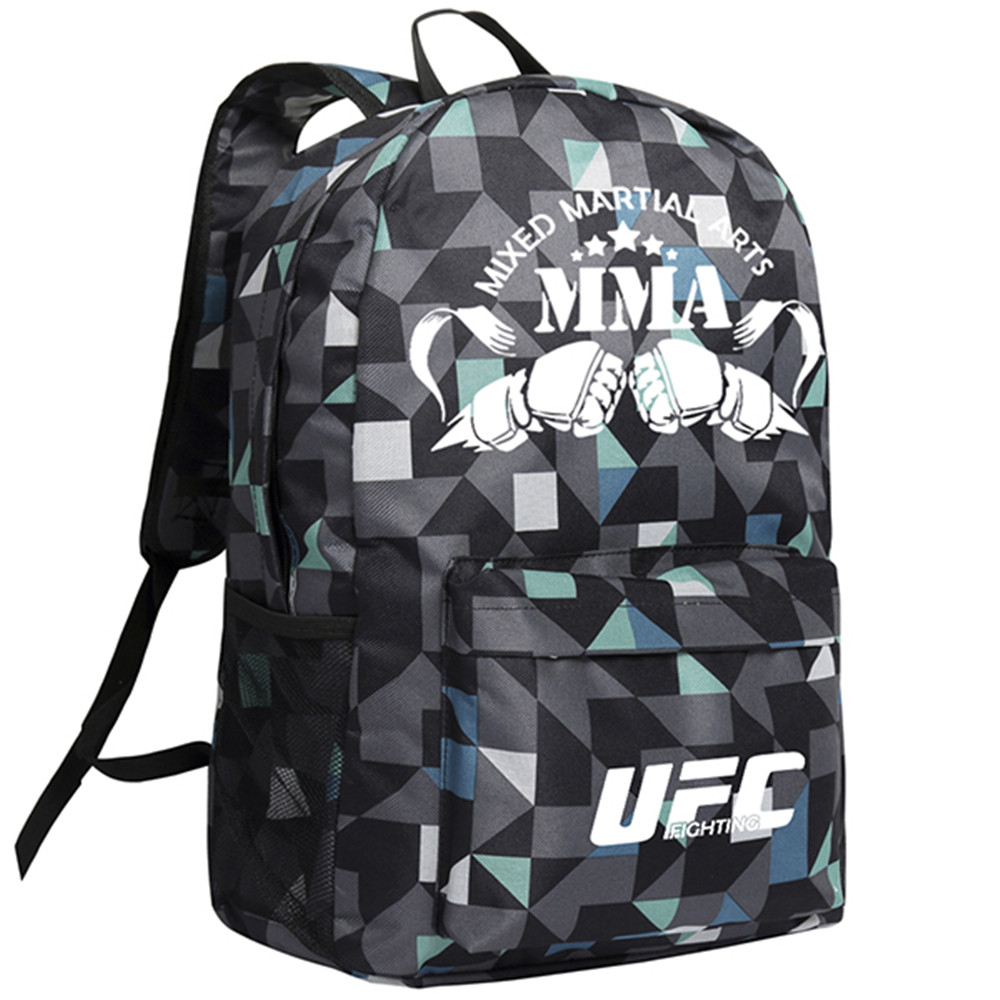 MeanCat Mixed Martial Arts MMA Boxing Game Backpack UFC Ultimate Fighting Championship Shoulder Bags with Luminous бомбер printio ultimate fighting championship new