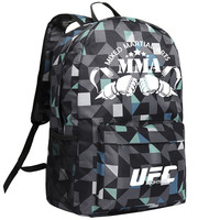 MeanCat Mixed Martial Arts MMA Boxing Game Backpack UFC Ultimate Fighting Championship Shoulder Bags with Luminous