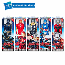 лучшая цена Hasbro Marvel Titan Super Hero Series 12-Inch Ant Man Black Panther Thor Captain America Iron Man Action Figure Kids Gift