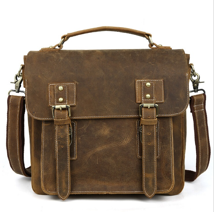Vintage Handbag Men Bag Genuine Leather Briefcases  Shoulder Bags Laptop Tote men Crossbody Messenger Bags Handbags designer Bag цена