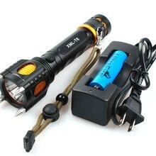 3800Lm XM-L T6 тактический светодиодный вспышка светильник самозащиты фонарь полицейская сигнализация светильник водонепроницаемый светодиодный вспышка светильник+ 18650 батарея+ 1* зарядное устройство