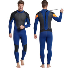 Neoprene warm winter swimming surfing long sleeve one-piece swimsuit thicker  jellyfish diving suit snorkeling suit 3MM цена