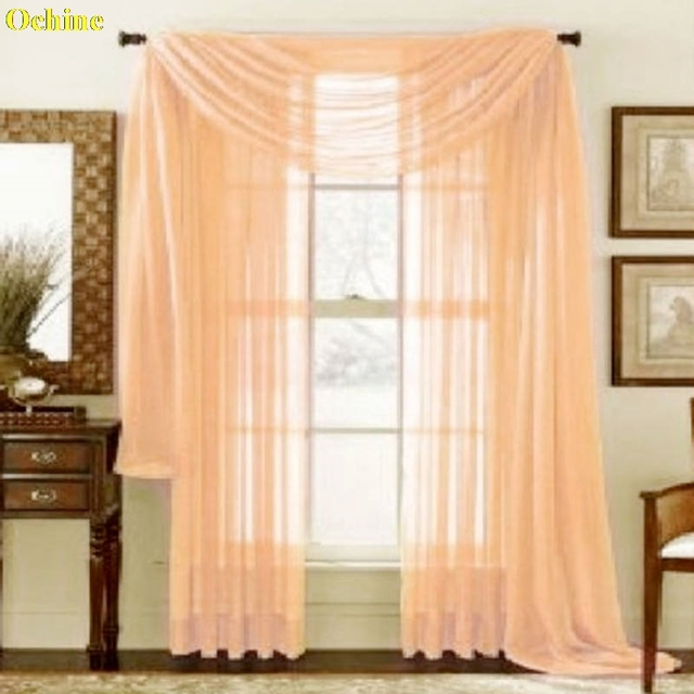 Ochine 95x200cm Multi Styles Door Window Curtain Drape Panel Or Scarf Orted Sheer Voile Cortinas