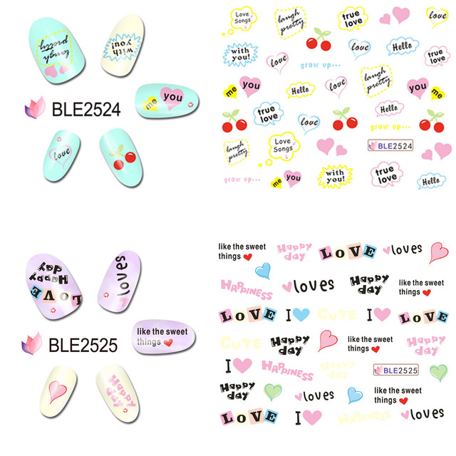 15 Valentines Day Nail Art Stickers Decals 2017