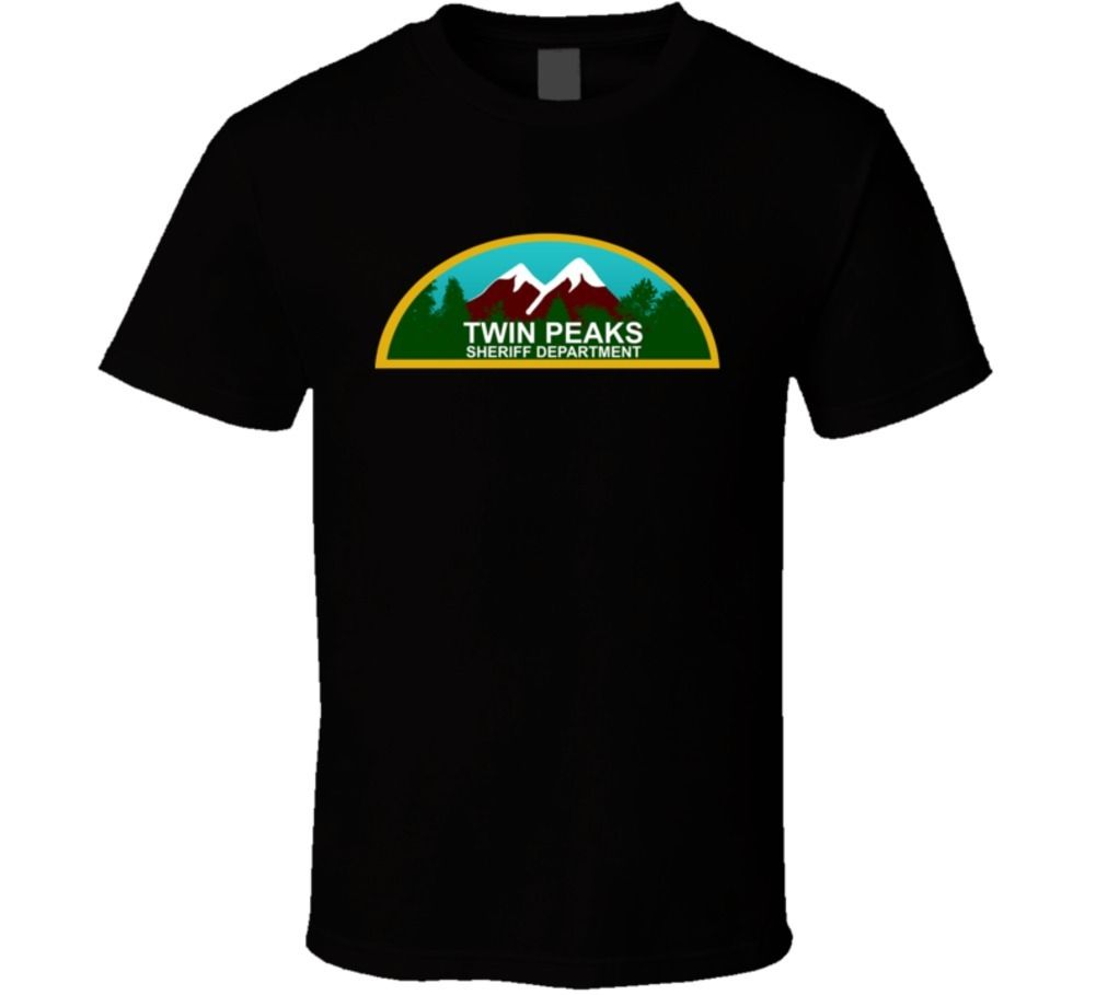 Twin Peaks Retro 90s TV Show T Shirt Men Brand Clothihng Top Quality Fashion Mens T Shirt 100%Cotton Brand Clothes Summer 2018