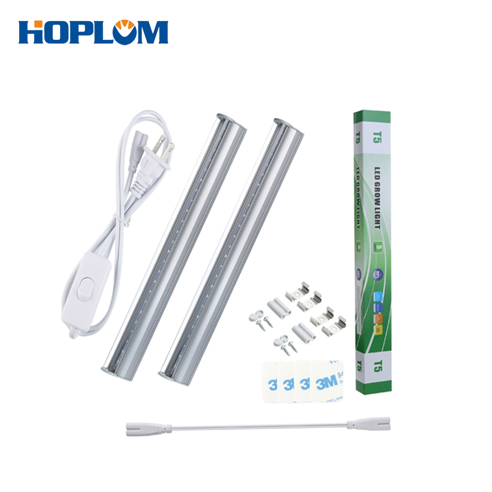 LED Grow Light T5 Tube SMD2835 High Brightness LED Grow Bar Light AC 85-265V Led Plant Lamp For Greenhouse Garden  US/EU