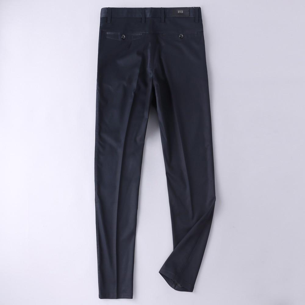 2018 черный костюм брюки Slim Fit платье формальный работа Однотонная одежда Прямые Тип длинные штаны средней линией талии в западном стиле брюк...