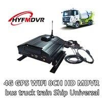 Источник завод 8 канала аудио Вход видео 4 г сети gps/WI FI DVR Поддержка Автобус Грузовик универсал