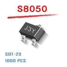 Fonte de Alimentação SOT23 1000 PCS NPN S8050 0.5A 25 V SOT-23 Plástico-Encapsulate