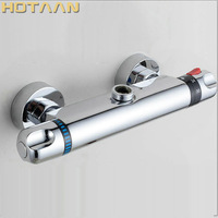 Free Shipping Wall Mounted Two Handle Thermostatic Shower Faucet Thermostatic Mixer , Shower Taps Chrome Finish,YT 5301