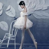 Free Shipping Customization Ballet Dance Dress For Adult And Kids Training Suit Women Tutu Skirts Gymnastics