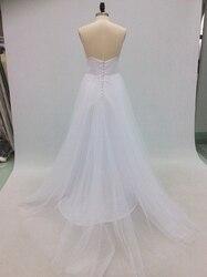 Vestido De Noiva Simple Beach Wedding Dress 2018 A-Line V Neck Spaghetti Straps Sexy Boho Backless White Bride Dress Bridal Gown 3
