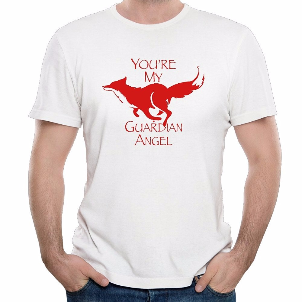 Sleeve T Shirts Men 2017 New Spring Summer You Are My Guardian Angel 100% Pure Cotton Tees O Neck