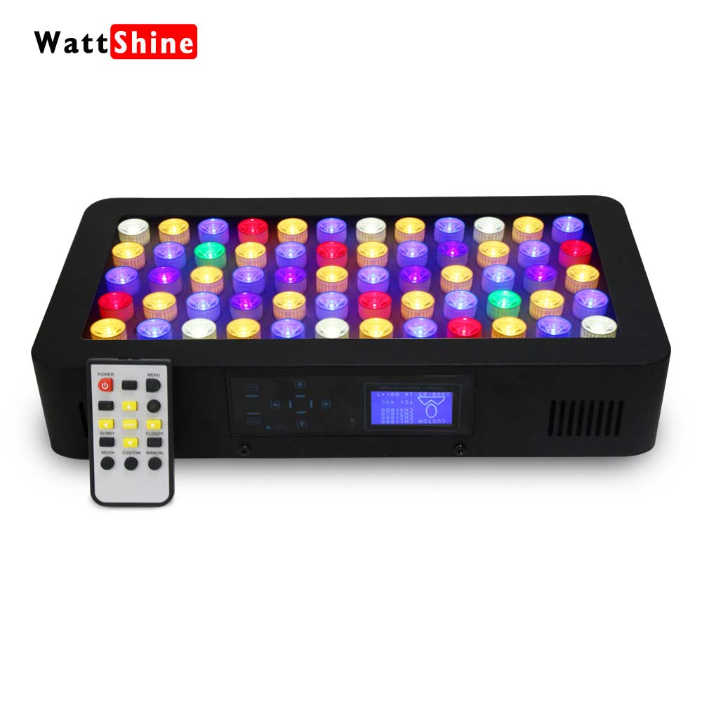 led aquarium Lighting 180W Remote Touch Timer Control Dimming Coral lights Freshwater and Saltwater Reef Grow for aquarium timer control dimmer 180w led aquarium light remote or touch control dimmable freshwater or saltwater pool coral hall fish tank