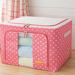 55L Oxford Cloth Storage Box Clothes Organizer Quilt Clothing Toys Storage Box Large Size
