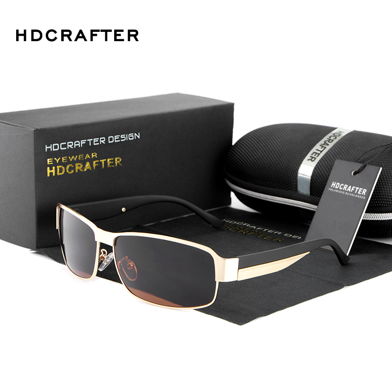 2016 new HDCRAFTER  Driving Sun Glasses for Men Polarized sunglasses UV400 Protection Brand Design Eyewear High Quality Oculos