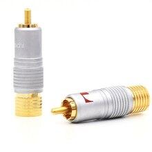 Nakamichi RCA Plug cavo Audio connettore 24K placcato oro spedizione gratuita 100% nuovo
