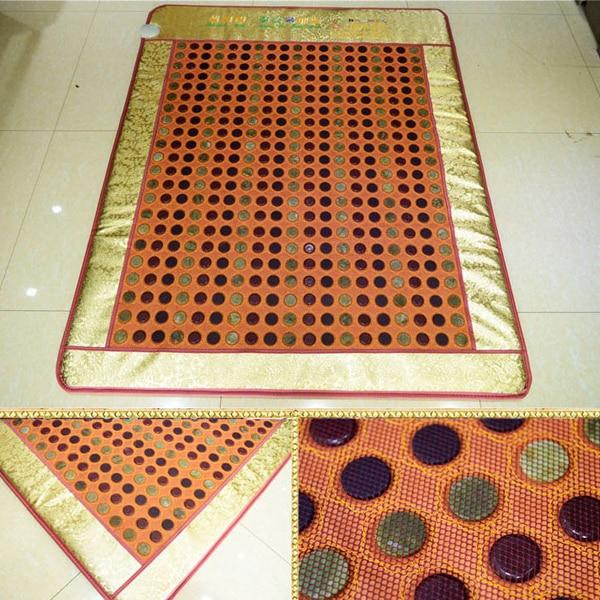 Naturlig jade termisk massage madras sundhed madras langt infrarød termisk jade madras turmalin varm madras størrelse120x190cm