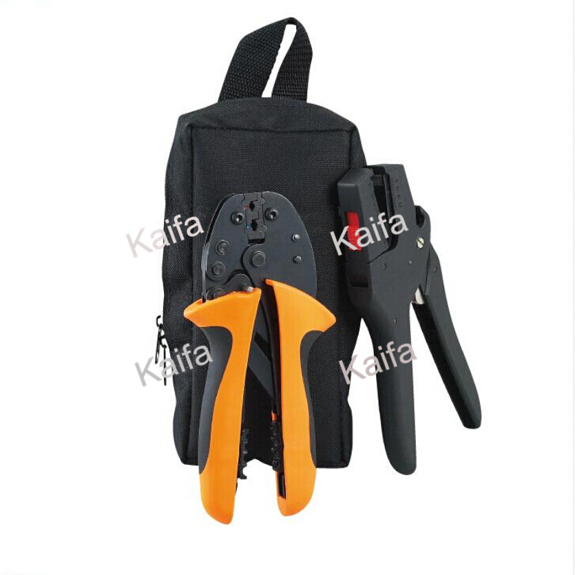 FSBK-D3B combination tools in plastic box crimping plier pneumatic crimping tools plier with 15 sets of dies