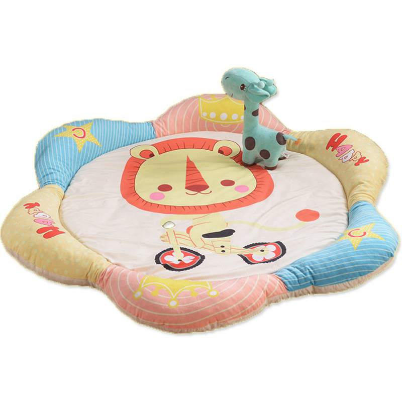 Cartoon Baby Crawling Game Blanket Playmat Cotton Padded Climbing Carpet Baby Home Gym Activity Play Mat Kids Ground Play Mat ins 95cm baby play mat cotton kids play game mats playmat round children s rugs baby gym playmat floor carpet for crawling