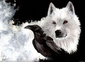 Game of Thrones Wolf Crow poster home decoration Canvas Print 50x75cm Free Shipping