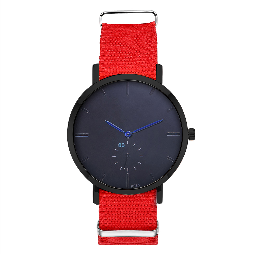 Man Watch 2019 Mens Simple Leisure Watches Nylon Men Watch Black Buckle Clock Wrist Watches Gifts for Men