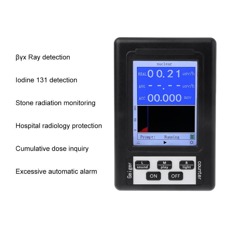 font b Geiger b font Counter Nuclear Radiation Detector Personal Dosimeter Marble Tester X ray