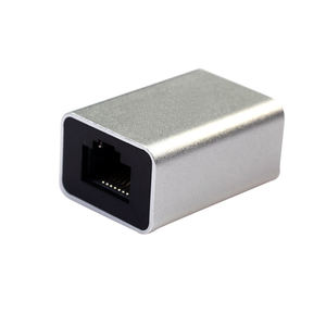 Image 2 - Сетевой разъем Cat6 из алюминиевого сплава Rj45 8P8C, соединительная муфта для подключения к гнезду, соединительный кабель Lan, удлинитель шнура
