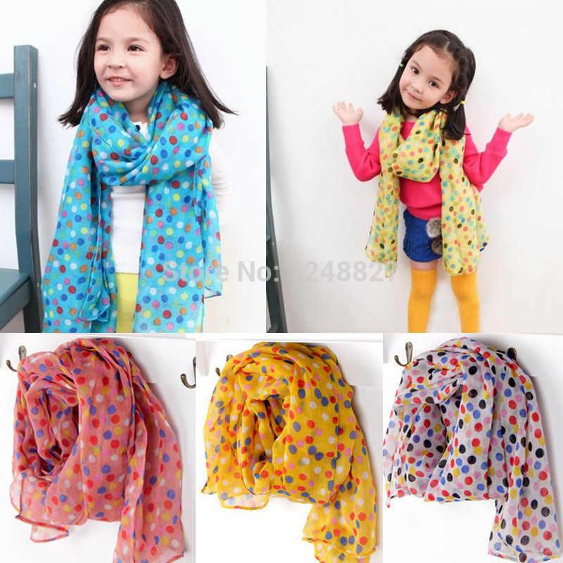 New Fashion Kid Chiffon Scarf Autumn Winter children's scarf Kids dot silk  scarves girls boys warm cappa scarf 5pcs/lot|scarf wholesaler|scarf  christmasscarf viscose - AliExpress