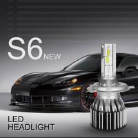 BOSMAA H4 LED H7 H11 H1 9003 9005/HB3/H10 9006 Auto Car Headlight 72W High Low Beam Light Automobiles Lamp white 6000K Bulb
