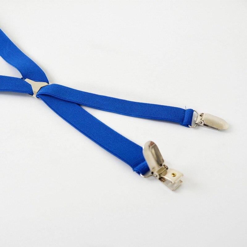 Mens Moda Sólido Azul Marino Tirantes Para Hombre Tirantes Clip on X ...