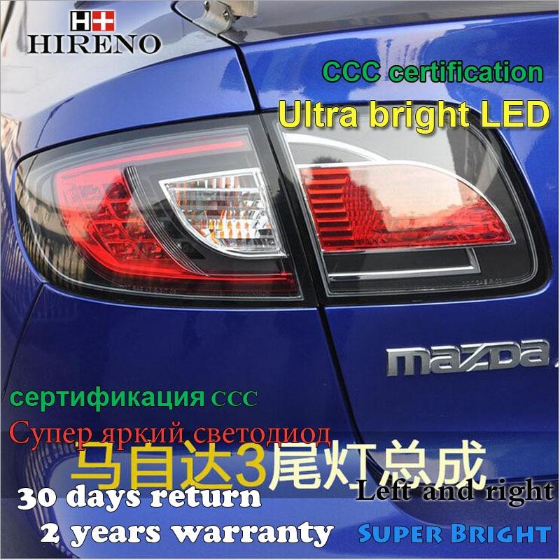 Hireno Tail Lamp for Mazda Mazda3 Taillight Rear Lamp Parking Brake Turn Signal Lights hireno tail lamp for mazda mazda6 2003 12 taillight rear lamp parking brake turn signal lights