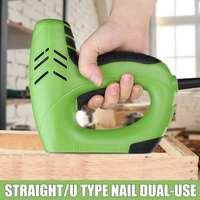 Multi functional Electric Staple Gun Straight Nail 10 14mm/Code Nails 6 14mm Dual Use Wood Working Nail Guns