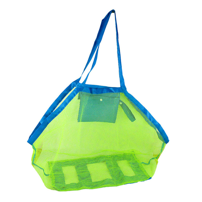 Mesh Bag Beach Toy Storage Tool Sand Water Leakage Quick Dry Foldable Bags For Mum Kids Outdoor Play Toy Collection Net Bag