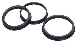 Image 1 - 73.1 66.1mm 20 pcs 블랙 플라스틱 휠 허브 중심 링 사용자 정의 크기 사용할 수있는 휠 림 부품 액세서리 도매 무료 배송