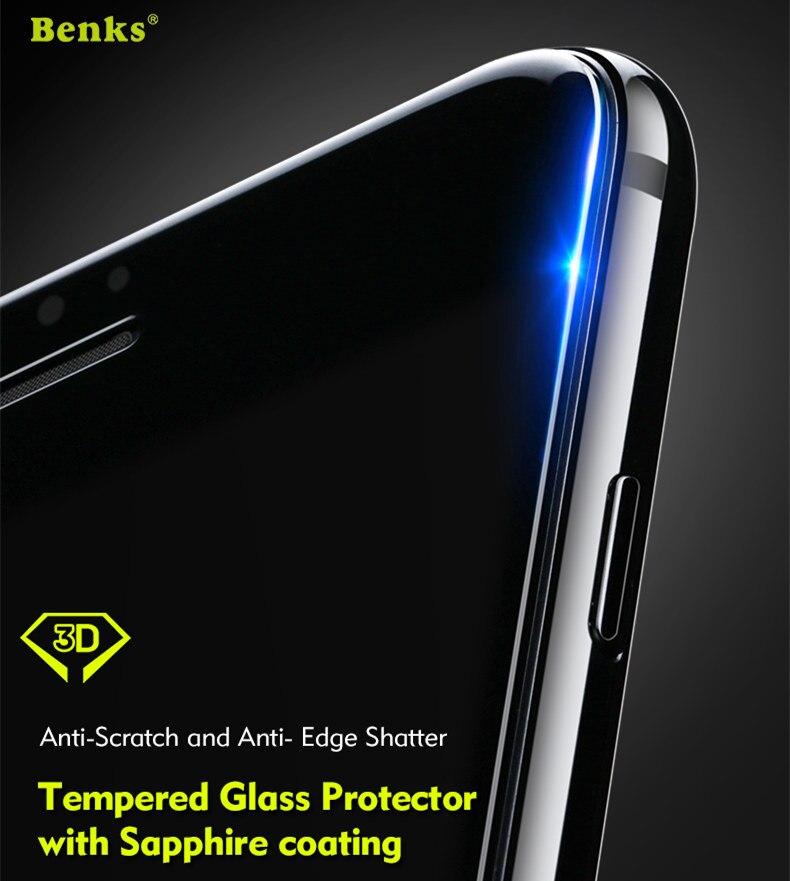 bilder für Für iPhone 7/7 Plus Gehärtetem Glas Displayschutzfolie Benks Sapphire Beschichtung 3D Full Cover Schutzfolie für iPhone7 Plus