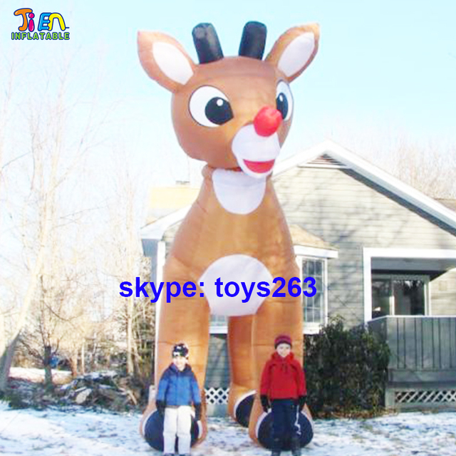 Giant Inflatable Reindeer For Christmas / 5m/6m/7m High Inflatable  Christmas Deer For