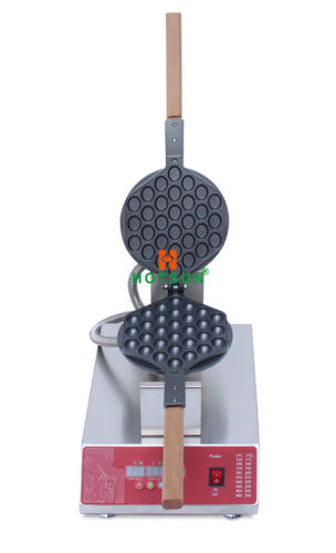 Commercial Dual LED Electric Rotated Belgian Liege Waffle Maker Iron Machine