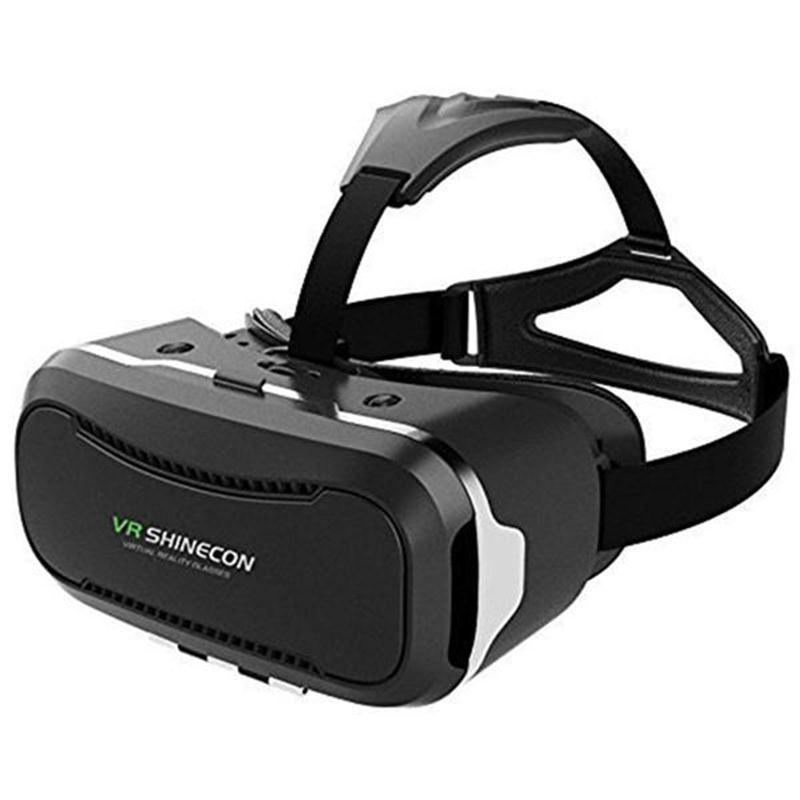 c191964317c92 2018 Google papelão VR shinecon ii Pro 2.0 De Couro Óculos de Realidade  Virtual 3D VR Jogo De Controle De fone de Ouvido + filme Original em Óculos  ...