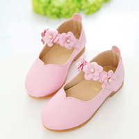 Insole 13 3 18 5cm Children Shoes Girls 2016 Autumn Fashion Flower Kids Leather Shoes Solid