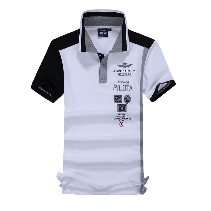 ff1139b8179d Summer New 2016 Brand POLO Air Force One Embroidery Men S Aeronautica  Militare Men Shirts Diamond Fashion Shark Clothing