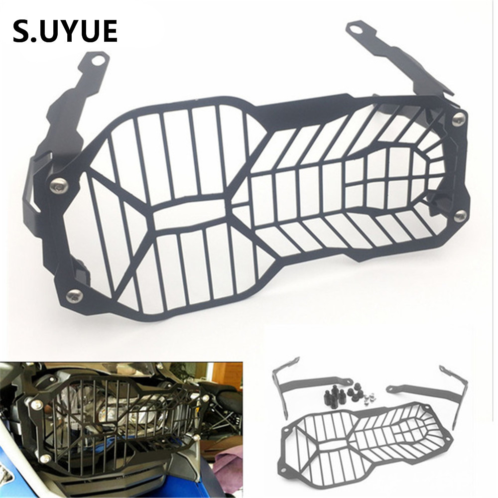 For BMW 1200 GS Headlight Grille Guard Cover Protector For BMW R1200 GS R1200GS ADV Adventure R1200GS (Water Cooled) 2012-2016 motorcycle radiator grill grille guard screen cover protector tank water black for bmw f800r 2009 2010 2011 2012 2013 2014