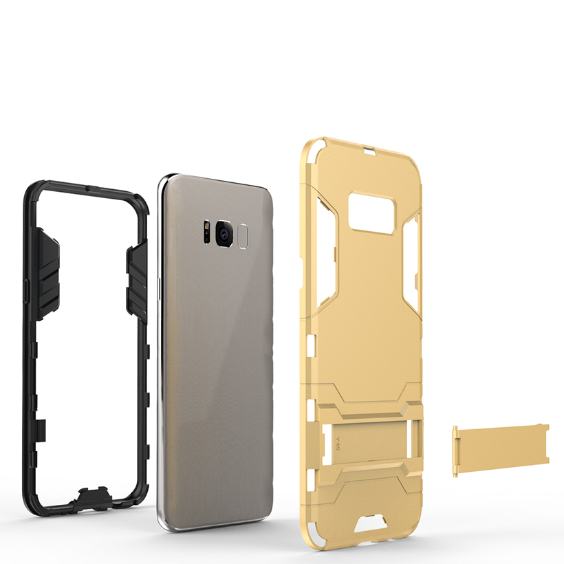Cubierta case para samsung galaxy s8 teléfono cubiertas de los casos de pc pu ca