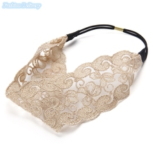 12pcs/lot Fashion Korean Wide Lace Elastic Headbands Magical Hair Styling Tools For Women Hair Accessories Wedding Headwear