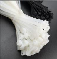 100pcs Self locking cable tie 9X400mm wide 8.8mm nylon cable tie black and white binding seal