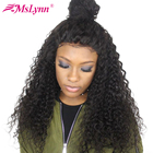 Mslynn 360 Lace Frontal Wig Pre Plucked With Baby Hair Brazilian Deep Wave Human Hair Wigs For Women 150% Non Remy 360 Lace Wig