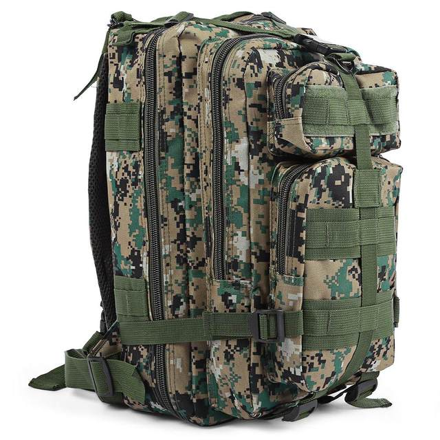 Outlife 30L 3P Tactical Backpack Military Oxford Sport Bag for Camping Traveling Hiking Trekking Bags Outdoor Backpack 9 colors 1