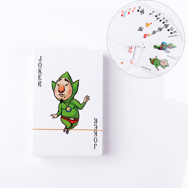 1 Pack The Legend of Zelda Breath of the Wild Link Playing Poker Paper Cards Game Collcection Cards Toys Action Figure Kids gift